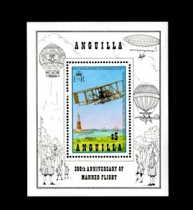 ANGUILLA - 1983 - AIRCRAFT - MANNED FLIGHT - WRIGHT BROTHERS - MINT MNH S/SHEET!