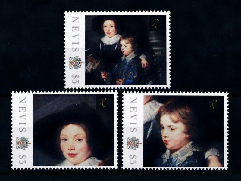 [75905] Nevis 2011 Painting Rembrandt Albert and Nicolaas Rubens Sheet MNH