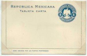 MEXICO 5c lettercard 1899 unused...........................................58752