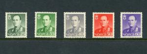 NORWAY OLAV  SCOTT#408/12   MINT NEVER   HINGED