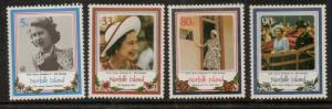NORFOLK ISLAND SG389/92 1986 60th BIRTHDAY OF QEII MNH