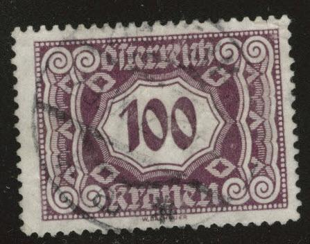 Austria Scott J118 Used from 1922-24 postage due set