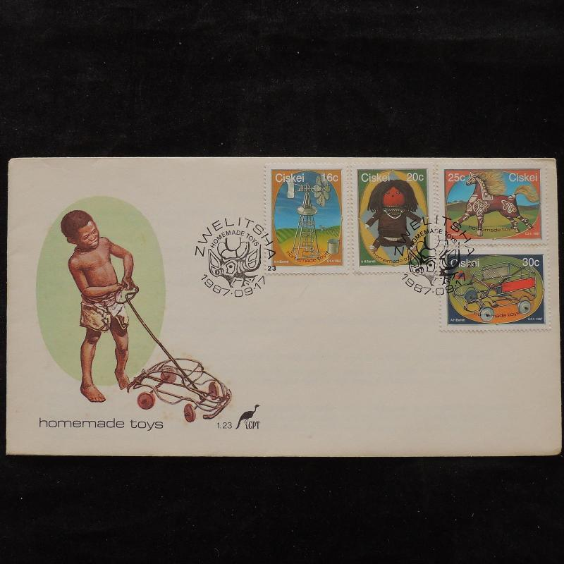 ZS-U667 CISKEI - Fdc, 1987 Child Toys, Great Franking Cover