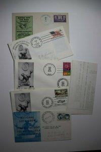 Motor City Detroit MI Stamp Show & Conv Philatelic Expo Cachet Covers Set 5