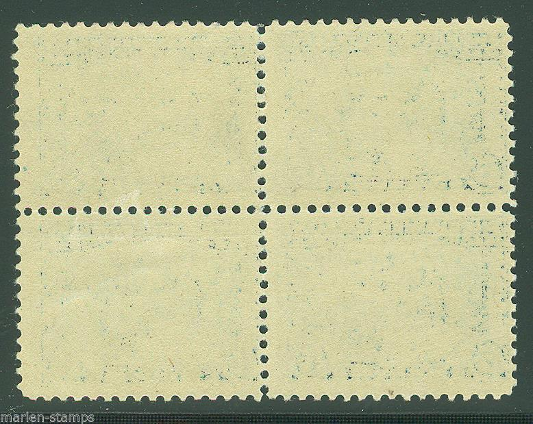 UNITED STATES  SCOTT#550 PILGRIM BLOCK OF FOUR MINT 2 VERY LH & 2 NH