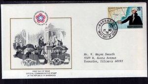 Barbados 441 US Bicentennial Typed FDC