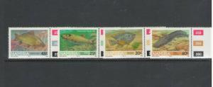NAMIBIA: Sc 710-13   /** Beautiful FRESHWATER  FISH **/ Complete Set  / MNH.