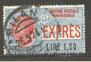 Italy,  1925 Express 1.2  Lire, overprint, VF ++ used, Scott # E 10