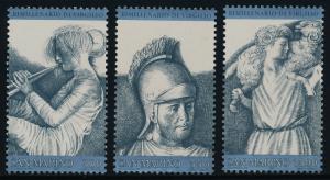 San Marino 1003-5 MNH Roman Sculptures, Woman Playing Flute, Virgil, Shepherd