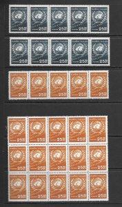 Thailand 330-2 MNH cpl set x 20, vf, see desc. 2020 CV $120.00