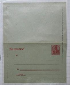 Germany Postal letter sheet card hg#10 gray watermark stationery paper mint DC