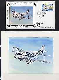 Isle of Man 1984 50th Anniversary of First Air Mail &...