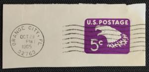US #U550 Used Single Full Corner Cut Square Eagle SCV $.25