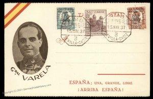 Spain Spanish Civil War Locals General Varela Patriotic Cover 99918