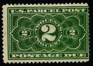 Scott #JQ2 F/VF Dark Green - 2c - Parcel Post Postage - HR - OG - Thin - 1913