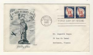 US - 1958 - Scott 1042 FDC - 8c Statue of Liberty - Pair
