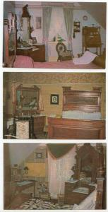 Canada William Lyon McKenzie King His Boyhood Home on Three Diff. Pristine PC's