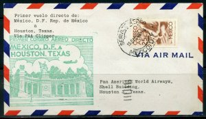 MEXICO MEXICO DF 12/15/1946 PAA CLIPPER FFC TO HOUSTON 12/16/46 AS SHOWN