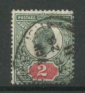 1911/13 Somerset House Sg 290, 2d Deep Dull Green & Red, Fine used {AV2000-113}