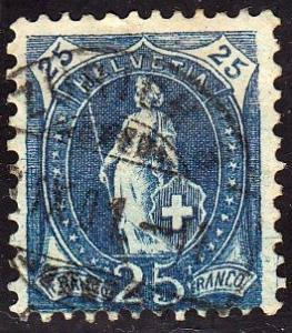 Switzerland #83 Helvetia, used. HM, Repair