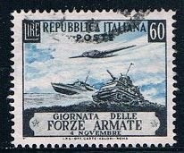 Italy 615 Used Boat plane and tank 1952 (MV0274)
