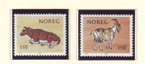 Norway Sc 779-0 1981 Milk Cow Goat stamps mint NH