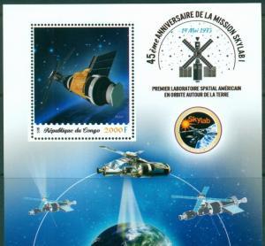 CONGO - 2018 - Skylab Space Station - Perf Souv Sheet #2  - MNH