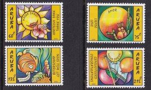 Aruba   #257-260  MNH   2005  greetings