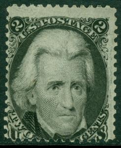 EDW1949SELL : USA 1863 Scott #73 Mint OG. Possibly reperforated at left Cat $375