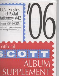 United Nations  New York,  Geneva  &  Vienna   2006  Scott  supplement number 42