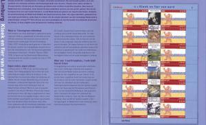 Netherlands 2002 cancelled Provinces Limburg  sheet