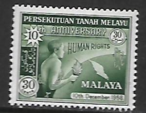 FEDERATION OF MALAYA, 90, MNH, HUMAN RIGHTS