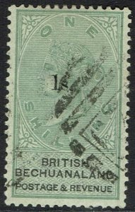 BECHUANALAND 1888 QV 1S ON 1/- USED