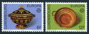 Luxembourg 585-586,MNH.Michel 928-929. EUROPE CEPT-1976.Soup tureen,Deep bowl.