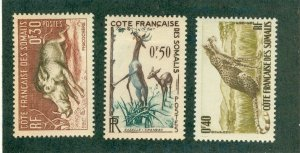 FRENCH SOMALIA 271-3 (5) MNH BIN$ 2.00