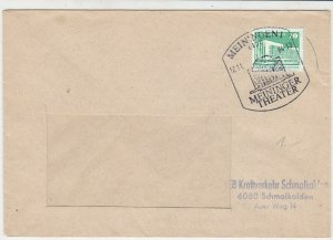 DDR 1984 Meininger Theater Building Slogan Cancel Window Stamps Cover Ref 27893
