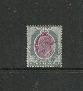 Malta 1903 Crown CA 2d FU SG 40