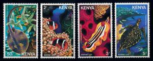 [66017] Kenya 1980 Marine Life Fish Turtle  MLH