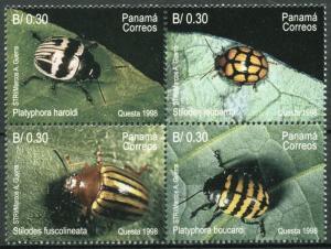 Panama 870, MNH, Insects Beetles 1998. x28249