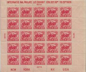 U.S. 630 VF NH Sheet/25 (22119)