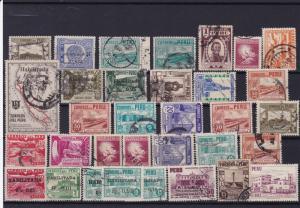 peru vintage stamps ref r13937