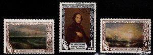 Russia Scott 1529-1531 Used CTO Aivazovsky stamp set