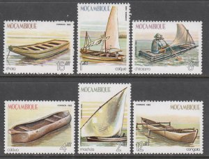 Mozambique 836-841 Ships and Boats MNH VF