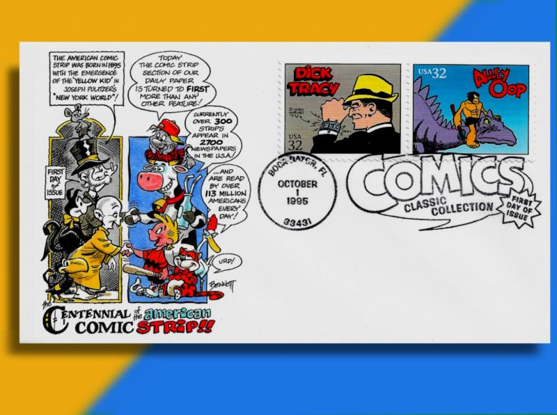 Dick Tracy & Alley Oop on Handcolored Classic Comic Strips
