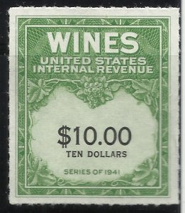RE180  $10.00 Mint NGAI Wines Series 1941​