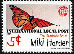 Phuntastic Art of Miki Harder (#4) Intl. Local Post Stamp