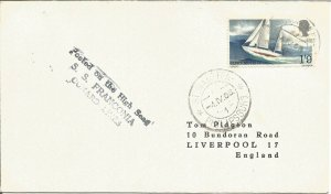 Maritime Mail Cover Posted On Board Ss Franconia St. Maarten 4 Apr 1968 U697