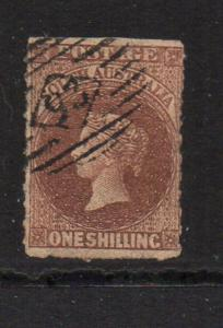 South Australia Sc 26 1863 1/ brown Victoria stamp used