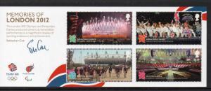 Great Britain Sc 3112 2012 Olympic Memories stamp sheet mint NH