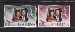 St Helena 271-272 Set MNH Elizabeth II Silver Wedding (A)